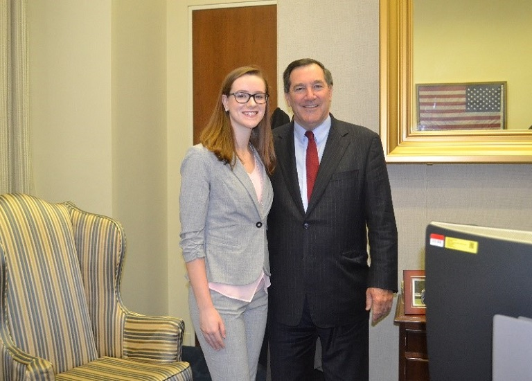 Image of the Dana K. Oakes and Sen. Joe Donnelly