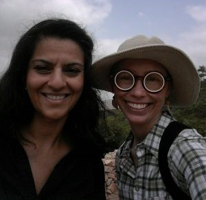MA student Manal Issa and Dr. Catherine Herrold on a visit to Sakiya