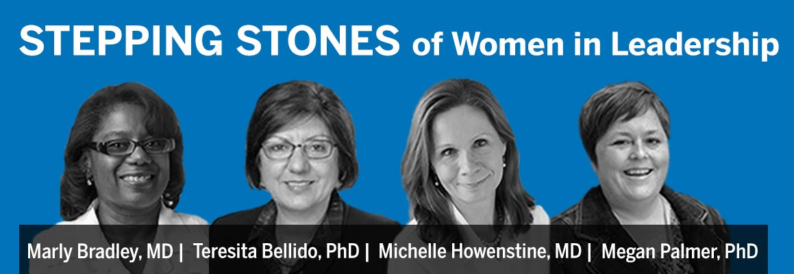 This is an image of Stepping Stones of Women in Leadership